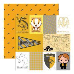 Papier Imprimé Harry Potter HUFFLEPUFFS par Paper House. Scrapbooking et loisirs créatifs. Livraison rapide et cadeau dans ch...
