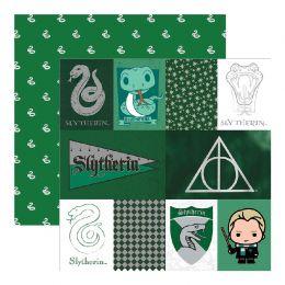 Papier Imprimé Harry Potter SLYTHERIN HOUSE par Paper House. Scrapbooking et loisirs créatifs. Livraison rapide et cadeau dan...