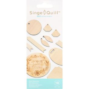 Embellissements en bois Singe Quill ASSORTED SHAPES par We R Memory Keepers. Scrapbooking et loisirs créatifs. Livraison rapi...