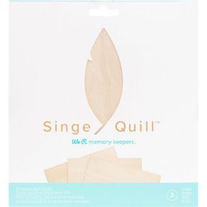 3 Feuilles De Bois Singe Quill