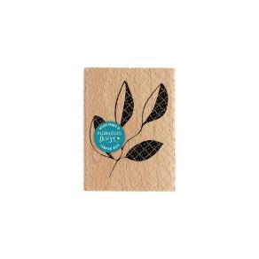 Tampon bois BRANCHE QUATRE FEUILLES par Florilèges Design. Scrapbooking et loisirs créatifs. Livraison rapide et cadeau dans ...