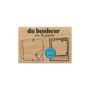 Tampon bois DU BONHEUR SUR LE PAPIER par Florilèges Design. Scrapbooking et loisirs créatifs. Livraison rapide et cadeau dans...