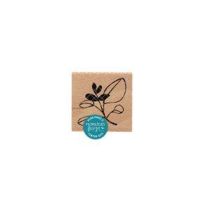 Tampon bois FEUILLAGE BICOLORE par Florilèges Design. Scrapbooking et loisirs créatifs. Livraison rapide et cadeau dans chaqu...