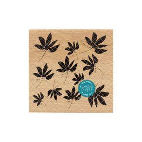 Parfait pour créer : Tampon bois FEUILLES D'AUTOMNE par Florilèges Design. Livraison rapide et cadeau dans chaque commande.