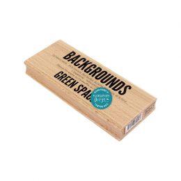 Tampon bois GREEN SPACE par Florilèges Design. Scrapbooking et loisirs créatifs. Livraison rapide et cadeau dans chaque comma...
