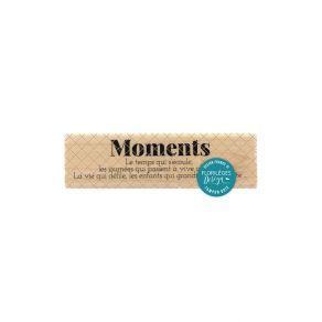 Tampon bois LE TEMPS QUI S'ÉCOULE par Florilèges Design. Scrapbooking et loisirs créatifs. Livraison rapide et cadeau dans ch...