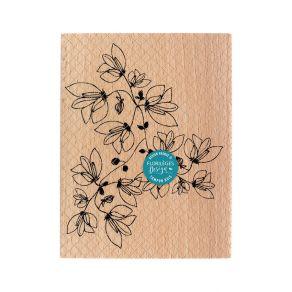 Parfait pour créer : Tampon bois POÉSIE NATURELLE par Florilèges Design. Livraison rapide et cadeau dans chaque commande.