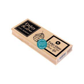 Tampon bois TAKE TIME par Florilèges Design. Scrapbooking et loisirs créatifs. Livraison rapide et cadeau dans chaque commande.