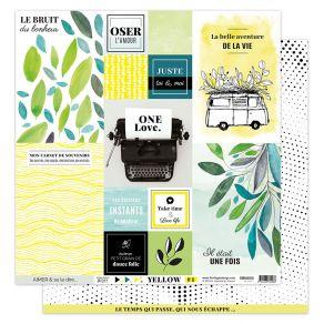 Papier imprimé YELLOW 1 par Florilèges Design. Scrapbooking et loisirs créatifs. Livraison rapide et cadeau dans chaque comma...
