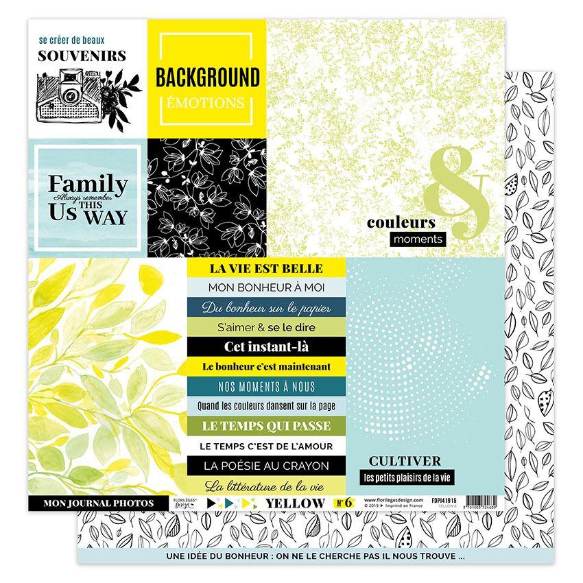 Papier imprimé YELLOW 6 par Florilèges Design. Scrapbooking et loisirs créatifs. Livraison rapide et cadeau dans chaque comma...
