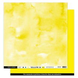 Papier uni 30,5 x 30,5 cm N°3 JAUNE SOLEIL par Florilèges Design. Scrapbooking et loisirs créatifs. Livraison rapide et cadea...
