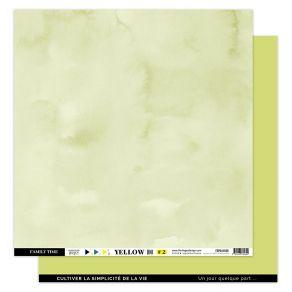 Papier uni 30,5 x 30,5 cm N°2 VERT BOURGEON par Florilèges Design. Scrapbooking et loisirs créatifs. Livraison rapide et cade...