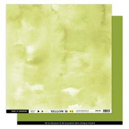Papier uni 30,5 x 30,5 cm N°5 VERT FEUILLAGE par Florilèges Design. Scrapbooking et loisirs créatifs. Livraison rapide et cad...