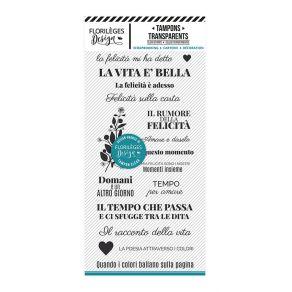 Commandez Tampon clear italien DISEGNARE LA POESIA Florilèges Design. Livraison rapide et cadeau dans chaque commande.