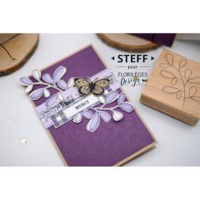 Tampon bois FEUILLAGE SIMPLISSIME par Florilèges Design. Scrapbooking et loisirs créatifs. Livraison rapide et cadeau dans ch...