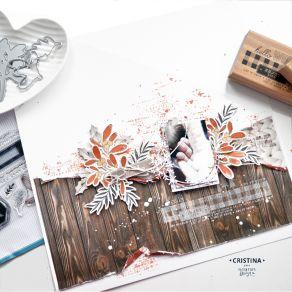 PROMO de -20% sur Tampon bois ENJOY WINTER LIFE Florilèges Design