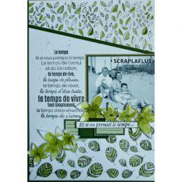 Tampons clear PRENDRE LE TEMPS par Florilèges Design. Scrapbooking et loisirs créatifs. Livraison rapide et cadeau dans chaqu...