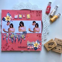 Tampon bois UN JOUR UNE PAGE par Florilèges Design. Scrapbooking et loisirs créatifs. Livraison rapide et cadeau dans chaque ...