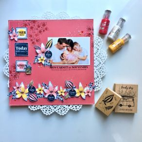 Tampon bois SOURIRES ET REGARDS par Florilèges Design. Scrapbooking et loisirs créatifs. Livraison rapide et cadeau dans chaq...