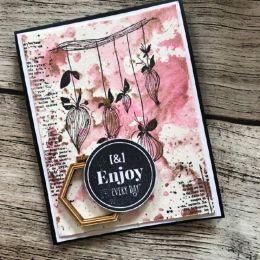 Tampon bois BOUTONS SUSPENDUS par Florilèges Design. Scrapbooking et loisirs créatifs. Livraison rapide et cadeau dans chaque...