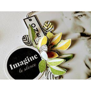 Tampon bois IMAGINE par Florilèges Design. Scrapbooking et loisirs créatifs. Livraison rapide et cadeau dans chaque commande.