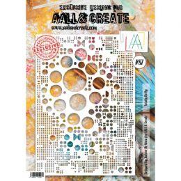 Pochoir 87 TOTALLY DOTTY par AALL & Create. Scrapbooking et loisirs créatifs. Livraison rapide et cadeau dans chaque commande.