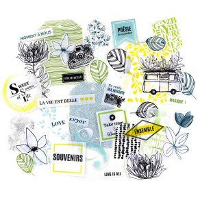 Die Cuts Calques YELLOW par Florilèges Design. Scrapbooking et loisirs créatifs. Livraison rapide et cadeau dans chaque comma...