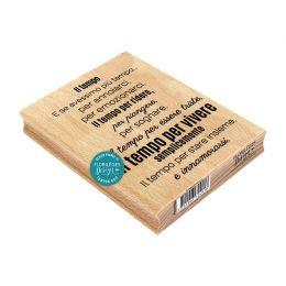 Tampon bois italien TEMPO DI VIVERE par Florilèges Design. Scrapbooking et loisirs créatifs. Livraison rapide et cadeau dans ...