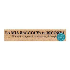 Tampon bois italien SORRISI E SGUARDI par Florilèges Design. Scrapbooking et loisirs créatifs. Livraison rapide et cadeau dan...