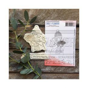 Tampon non monté Souffle d'hiver POUSSIERE DE JOIE par Chou and Flowers. Scrapbooking et loisirs créatifs. Livraison rapide e...