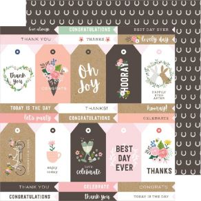 Papier imprimé Lovely Moments LOVELY TAGS