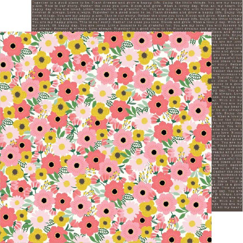 Papier imprimé Lovely Moments BLOOMS par Pebbles. Scrapbooking et loisirs créatifs. Livraison rapide et cadeau dans chaque co...