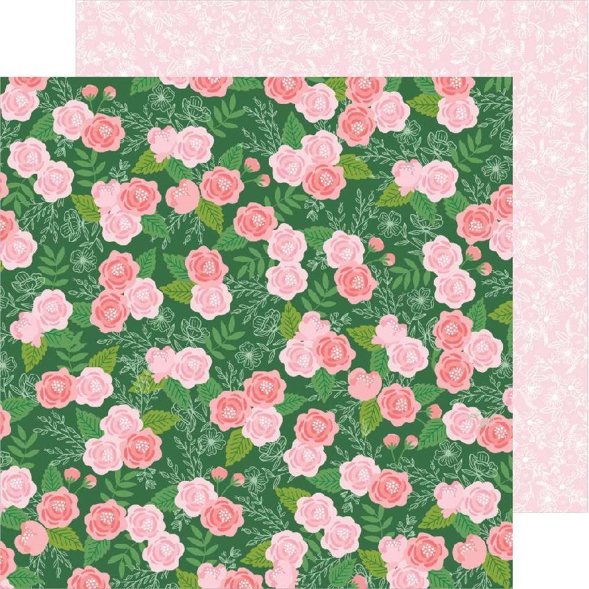 PROMO de -99.99% sur Papier imprimé Lovely Moments BOTANICAL ROSE Pebbles