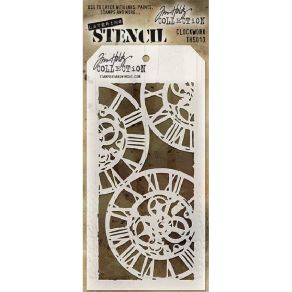 Pochoir Tim Holtz CLOCK WORK