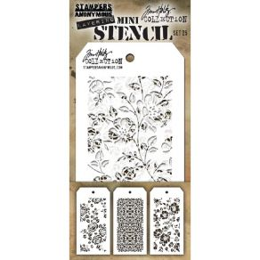 Set mini pochoirs Tim Holtz 25