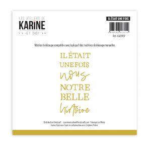 Outil de découpe Hey Baby IL ÉTAIT UNE FOIS par Les Ateliers de Karine. Scrapbooking et loisirs créatifs. Livraison rapide et...
