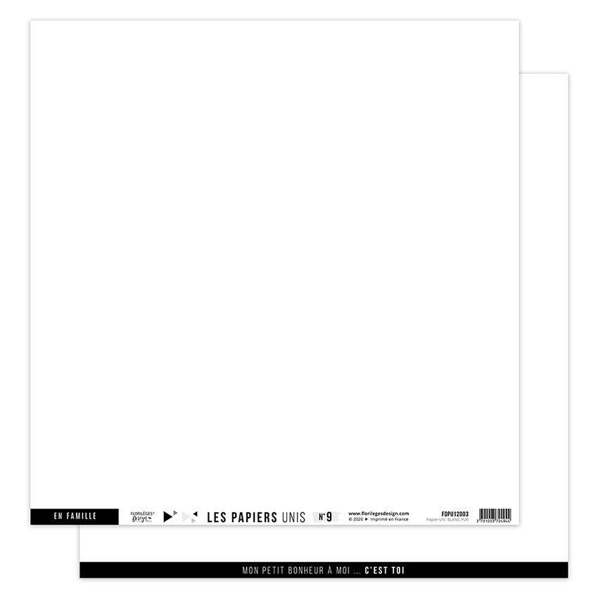 Papier Uni N°9 BLANC PUR