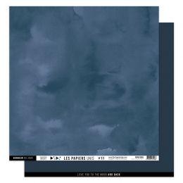 Papier uni 30,5 x 30,5 cm N°11 BLEU NUIT par Florilèges Design. Scrapbooking et loisirs créatifs. Livraison rapide et cadeau ...