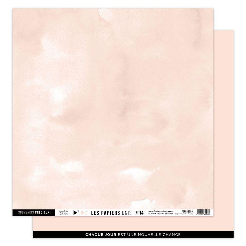 Papier Uni N°14 ROSE PÊCHE