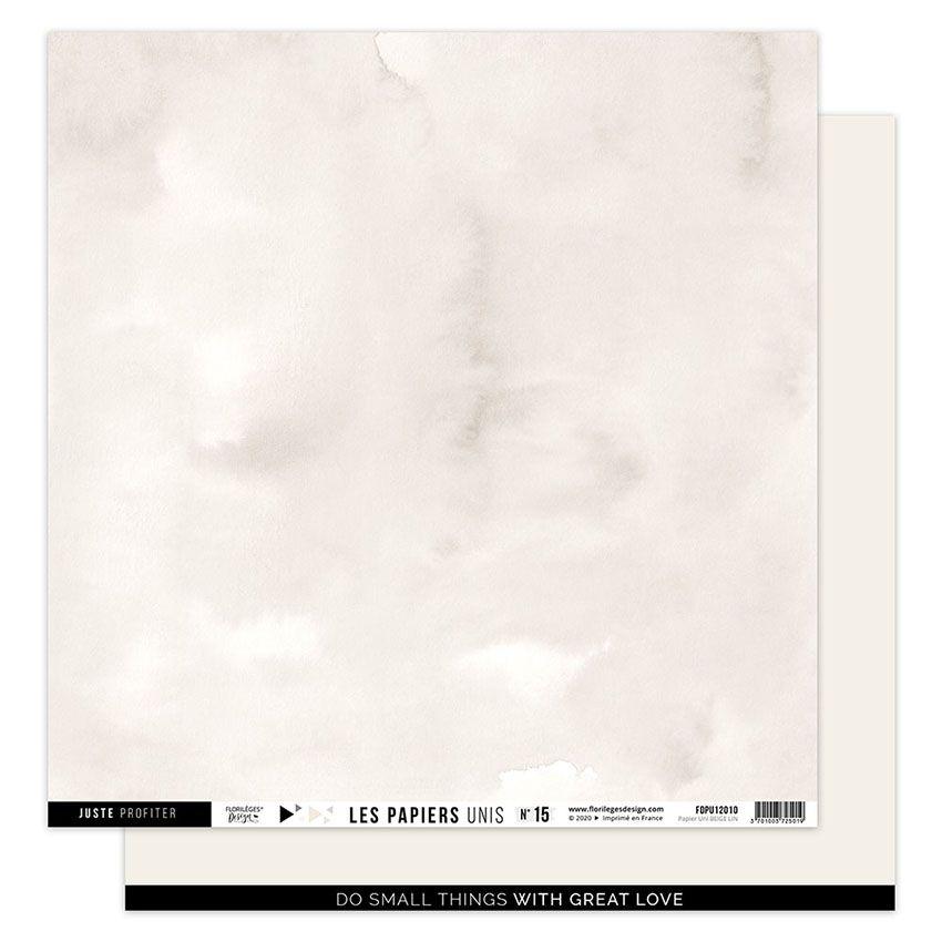 Papier Uni N°15 BEIGE LIN