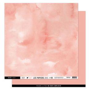 Papier uni 30,5 x 30,5 cm N°16 ROSE CORAIL par Florilèges Design. Scrapbooking et loisirs créatifs. Livraison rapide et cadea...