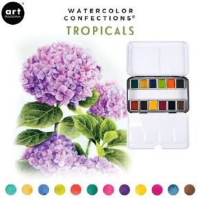 Palette d'aquarelle TROPICALS par Prima Marketing. Scrapbooking et loisirs créatifs. Livraison rapide et cadeau dans chaque c...