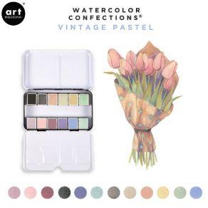 Palette d'aquarelle VINTAGE PASTEL par Prima Marketing. Scrapbooking et loisirs créatifs. Livraison rapide et cadeau dans cha...