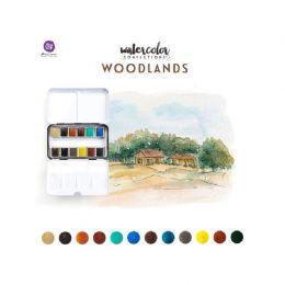Palette d'aquarelle WOODLANDS par Prima Marketing. Scrapbooking et loisirs créatifs. Livraison rapide et cadeau dans chaque c...