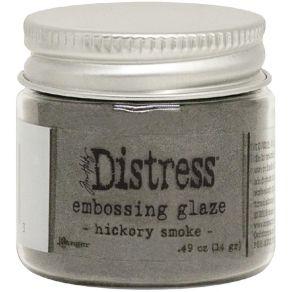 Poudre à embosser Embossing Glaze Distress HICKORY SMOKE