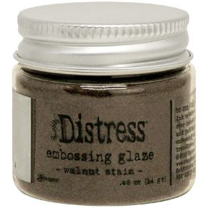 Poudre à embosser Embossing Glaze Distress WALNUT STAIN