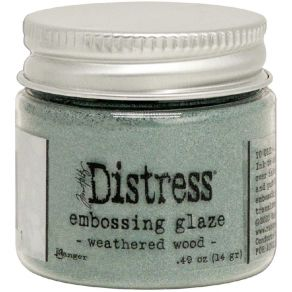 Poudre à embosser Embossing Glaze Distress WEATHERED WOOD
