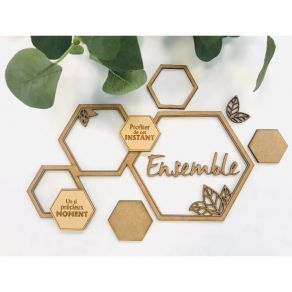 Support en bois exclusif HEXAGONES