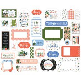 Die-cuts Plant Lady FRAMES & TAGS par Carta Bella. Scrapbooking et loisirs créatifs. Livraison rapide et cadeau dans chaque c...