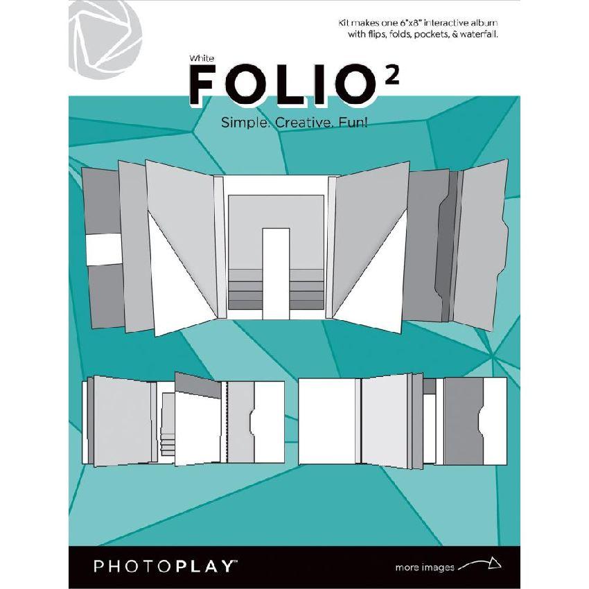 Kit mini album 15 x 20 cm FOLIO 2 WHITE